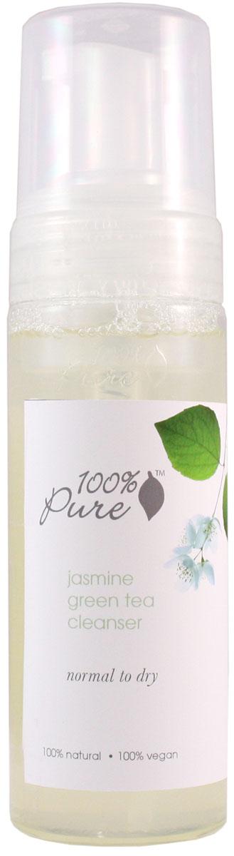 100% Pure Коллекция жасмин и зеленый чай: пенка для умывания 177 мл72523WDНежная, увлажняющая пенка для умывания смывает макияж (в том числе макияж глаз) и все другие загрязнения кожи. Пенка содержит антиоксиданты органического зеленого чая, органический сок алоэ, целебные травы, эфирное масло жасмина и другие питательные вещества. Пенка не только очищает кожу, но и питает и увлажняет ее. Эта коллекция разработана специально для ухода за нормальной и сухой кожей, но при этом обладает достаточно мягким действием на другие типы кожи.