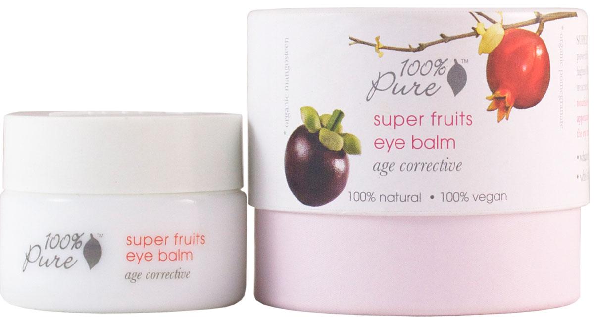 100% Pure Коллекция супер фрукты: бальзам для области вокруг глаз 10 г1FMSFEBКрем для области вокруг глаз содержит большое количество витаминов, антиоксидантов и полезных питательных веществ. Предотвращает появление морщин, способствует повышению упругости кожи, делает кожу более здоровой и сияющей. Коллекция Супер Фрукты - это квинтэссенция молодости, созданная из фруктов, обладающих самым мощным омолаживающим потенциалом и имеющих самое высокое значение ORAC! ORAC (Oxygen Radical Absorbance Capacity) - спектральная способность поглощения радикального кислорода, - это метод измерения антиоксидантного потенциала в биологических образцах. Разработано специально для коррекции уже имеющихся признаков старения..