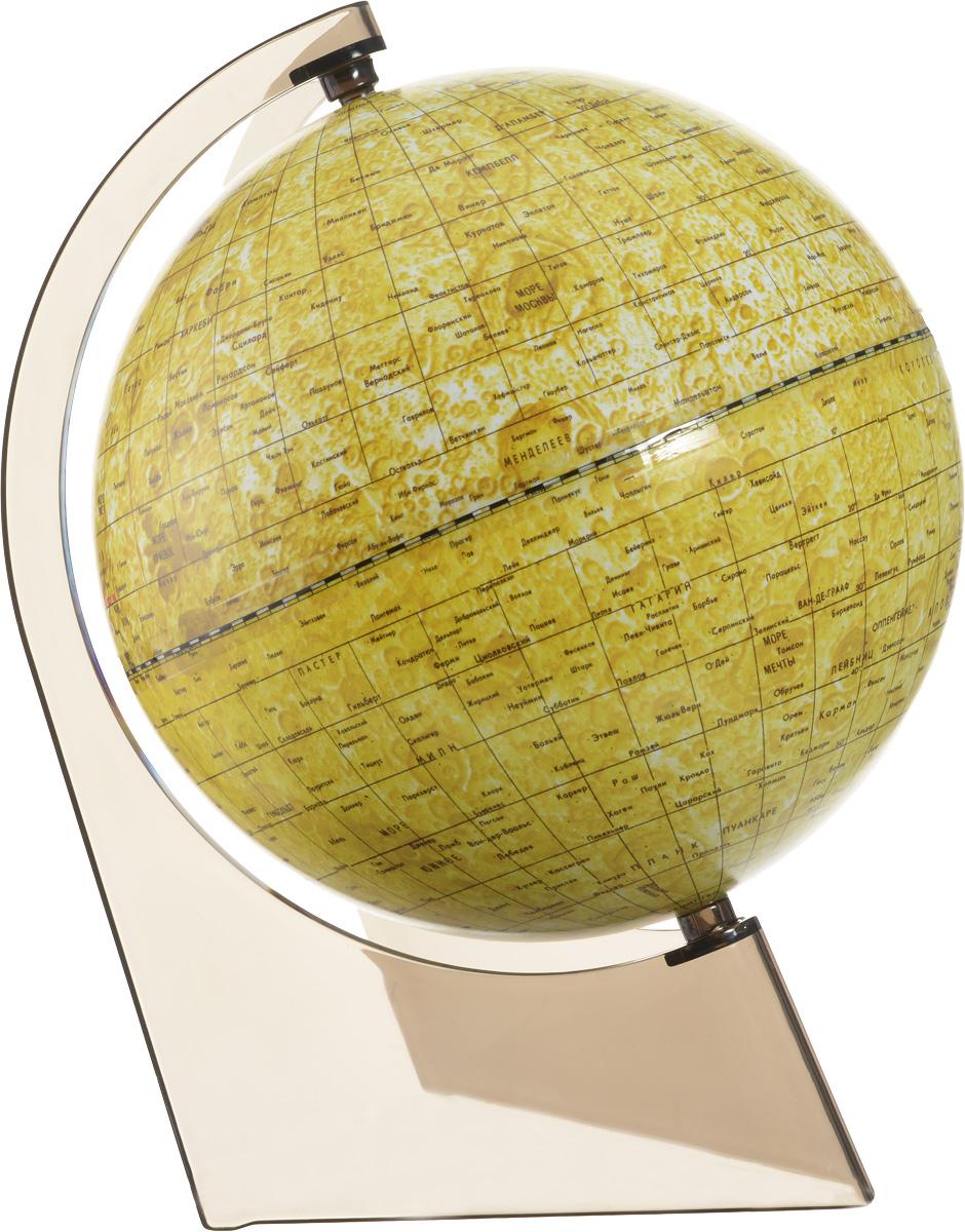 Глобусный мир Глобус Луны диаметр 21 смFS-00897Глобус Луны Глобусный мир изготовлен из высококачественного и прочного пластика.Данная модель предназначена для ознакомления с географией лунной поверхности. На глобусе указаны названия лунных морей, крупных и средних кратеров, возвышенностей, места посадки космических аппаратов. Такой глобус станет прекрасным подарком и учебным материалом для дальнейшего изучения астрономии. Изделие расположено на пластиковой треугольной подставке. Настольный глобус Луны Глобусный мир станет оригинальным украшением рабочего стола или вашего кабинета. Это изысканная вещь для стильного интерьера, которая станет прекрасным подарком для современного преуспевающего человека, следующего последним тенденциям моды и стремящегося к элегантности и комфорту в каждой детали.Масштаб: 1:60 000 000.