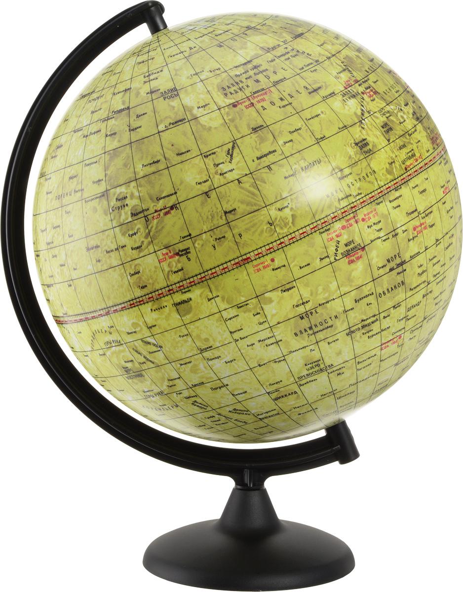 Глобусный мир Глобус Луны диаметр 32 см 10079FS-00897Глобус Луны Глобусный мир изготовлен из высококачественного и прочного пластика.Данная модель предназначена для ознакомления с географией лунной поверхности. На глобусе указаны названия лунных морей, крупных и средних кратеров, возвышенностей, места посадки космических аппаратов. Такой глобус станет прекрасным подарком и учебным материалом для дальнейшего изучения астрономии. Изделие расположено на пластиковой подставке. Настольный глобус Луны Глобусный мир станет оригинальным украшением рабочего стола или вашего кабинета. Это изысканная вещь для стильного интерьера, которая станет прекрасным подарком для современного преуспевающего человека, следующего последним тенденциям моды и стремящегося к элегантности и комфорту в каждой детали.Масштаб: 1:40 000 000.