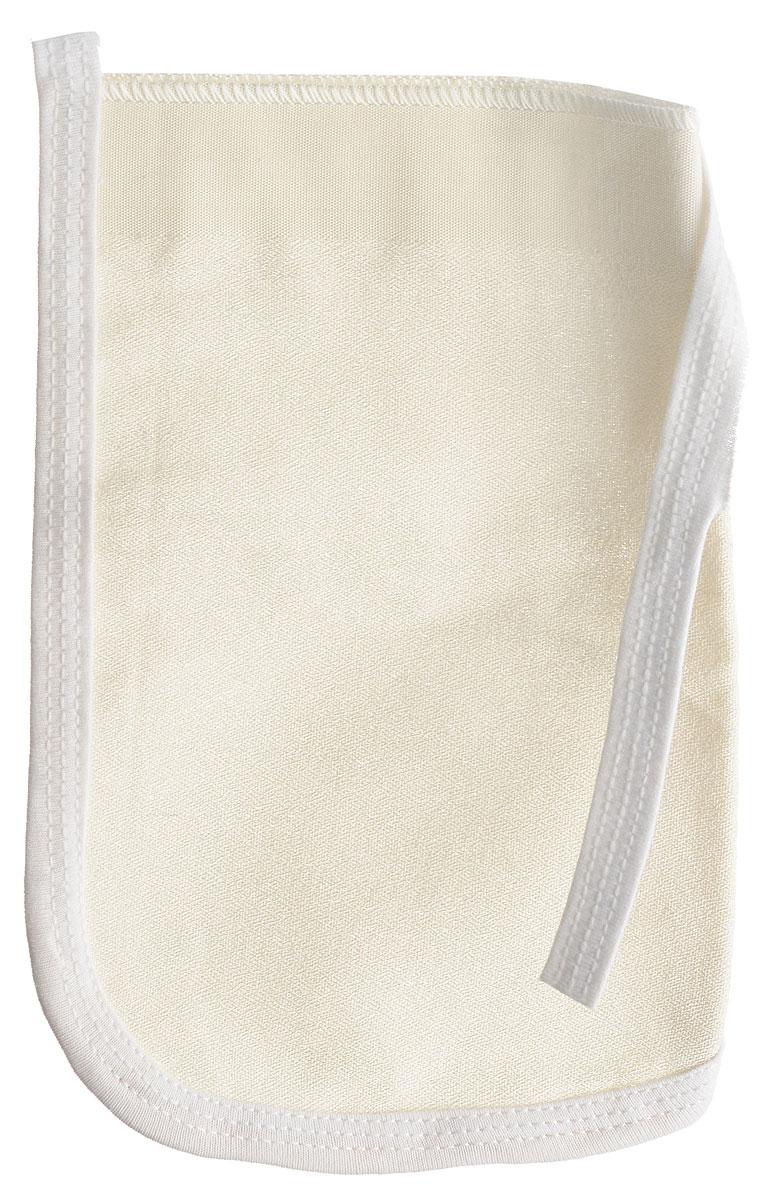 Рукавица для пилинга Riffi, шелковая, толстая, бежевая5010777139655Рукавица для пилинга Riffi, шелковая, толстая, белая