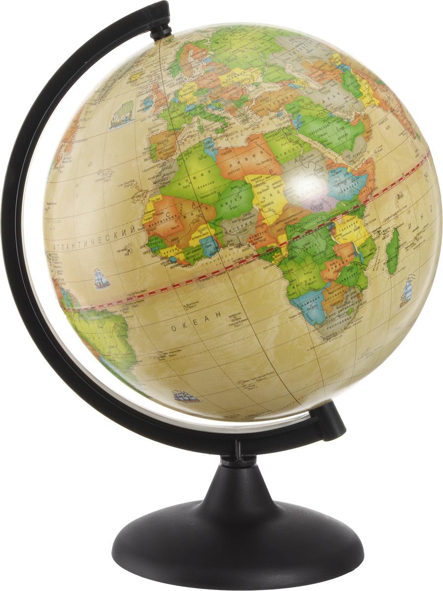 Глобусный мир Глобус с политической картой мира Ретро-Александр диаметр 25 см10162Глобус с политической картой мира Глобусный мир изготовлен из высококачественного прочного пластика.Данная модель выполнена в ретро стиле и показывает страны мира, границы того или иного государства, расположение городов и населенных пунктов. Изделие расположено на подставке и легко вращается вокруг своей оси. На глобусе отображены картографические линии: параллели, меридианы, а также градусы. Все страны мира раскрашены в разные цвета. Глобус с политической картой мира станет незаменимым атрибутом обучения не только школьника, но и студента. Названия стран на глобусе приведены на русском языке.Глобус с политической картой мира Ретро-Александр станет оригинальным украшением рабочего стола или вашего кабинета. Это изысканная вещь для стильного интерьера, которая будет прекрасным подарком для современного преуспевающего человека, следующего последним тенденциям моды и стремящегося к элегантности и комфорту в каждой детали.Масштаб: 1:50 000 000.