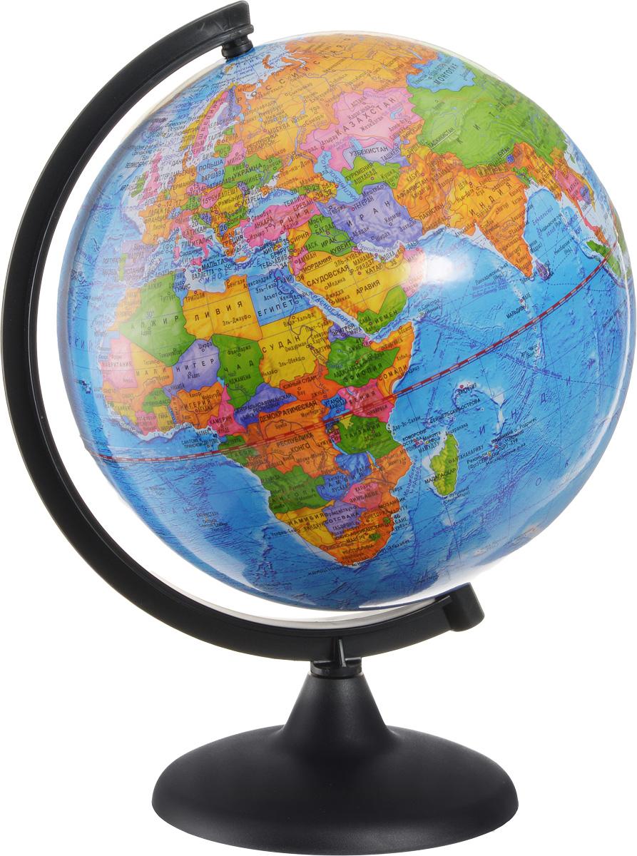 Глобусный мир Глобус с политической картой мира диаметр 25 смFS-00897Глобус с политической картой мира Глобусный мир, изготовленный из высококачественного и прочного пластика, показывает страны мира, железнодорожные и морские пути сообщения, научные станции, расположение столиц государств и населенных пунктов. На нем отображены картографические линии: параллели и меридианы, а также градусы и условные обозначения. Каждая страна обозначена своим цветом. Названия стран на глобусе приведены на русском языке. Изделие расположено на черной пластиковой подставке.Глобус с политической картой мира станет незаменимым атрибутом обучения не только школьника, но и студента Настольный глобус Глобусный мир станет оригинальным украшением рабочего стола или вашего кабинета. Это изысканная вещь для стильного интерьера, которая станет прекрасным подарком для современного преуспевающего человека, следующего последним тенденциям моды и стремящегося к элегантности и комфорту в каждой детали.Масштаб: 1:50 000 000.