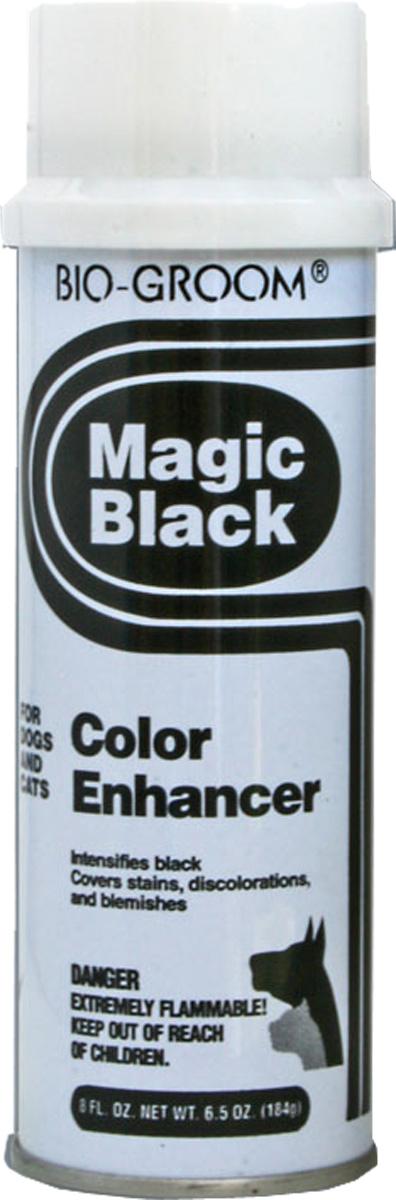 Спрей-мелок выставочный Bio-Groom Magic Black, цвет: черный, 184 г1070Bio-Groom Magic Black - это черная выставочная пенка для кошек и собак.Черный выставочный мелок в спрее поможет быстро замаскировать пятна, незначительные цветовые дефекты шерсти и кожи, а также добавит интенсивность черному окрасу животных.После применения рекомендуется смывать любым шампунем из серии Bio-Groom. Масса: 184 г.