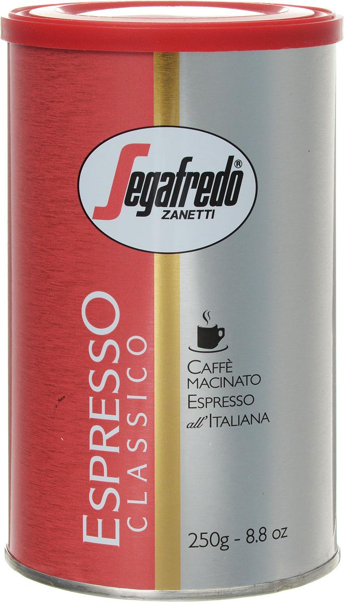 Segafredo Espresso Classico кофе молотый, 250 г0120710Segafredo Espresso Classico - супер-премиум бленд молотых кофейных зерен для тех, кто любит роскошь и может позволить себе самое лучшее в лучших традициях и технике приготовления настоящего Итальянского эспрессо.