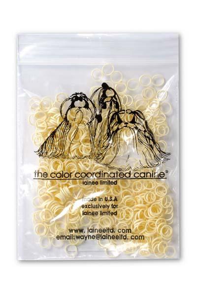 Резинки Lainee S белые 200 шт1250-0050Lainee (Лайни) резинки латексные размер SНабор латексных резинок. Резиночки используются для формирования топ-кнотов у собак с невысокой плотностью шерсти. Цвет белый, 200 шт. в упаковки.