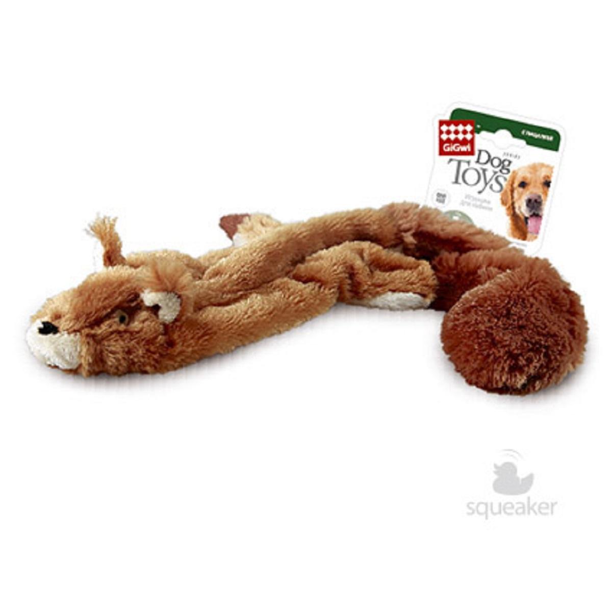Игрушка для собак GiGwi Шкурка белки, с пищалкой, 61 см27799312Игрушка для собак GiGwi  Шкурка белки, выполненная из текстиля, не позволит заскучать вашему питомцу. Играя с этой забавной игрушкой, маленькие щенки развиваются физически, а взрослые собаки поддерживают свой мышечный тонус. Игрушка выполнена в виде шкурки белки. Такая игрушка порадует вашего любимца, а вам доставит массу приятных эмоций, ведь наблюдать за игрой всегда интересно и приятно.