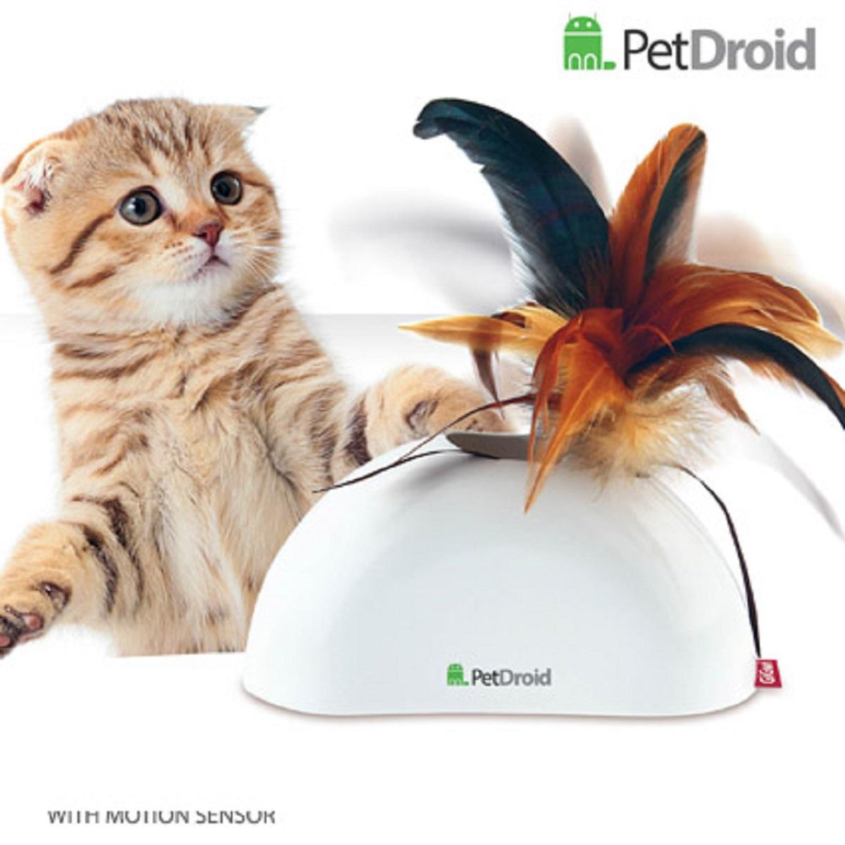 Электронная игрушка для кошек GiGwi Pet Droid Фезер Хайдер0120710Игрушка для кошки. Интерактивная игрушка с звуковым чипом. Сменые насадки, 2 датчика движения. При касании лапами игрушка издает звуки похожие на чириканье птиц. Хвостик из натуральных перьев выскакивает, из корпуса игрушки, что очень забавляет питомца. Игрушка активируется автоматически при при подходе к ней животного, благодаря встроенным датчикам движения. Возможность использование в вертикальном и горизонтальном положении. Крепеж в комплекте для крепления в вертикальном положении Работает от 2 батареек АА Батарейки в комплект не входят Сменная верхушка из перьев Размер 15 см.