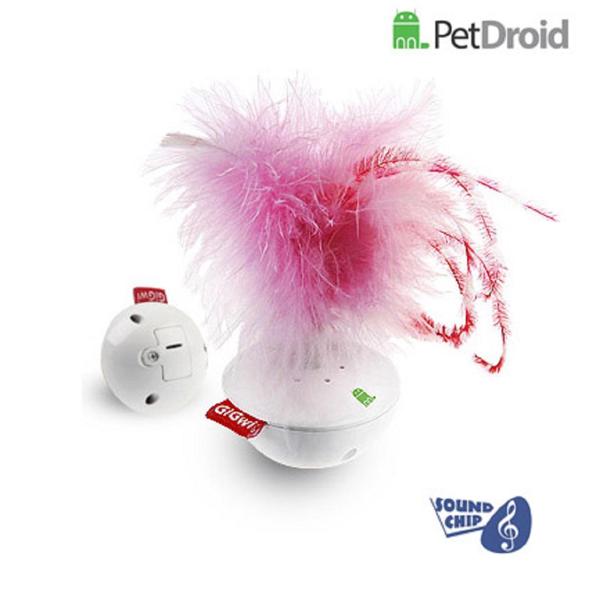 Электронная игрушка для кошек GiGwi Pet Droid Фезер Воблер0120710Интерактивная игрушка-неваляшка с звуковым чипом для кошек. При касании лапами игрушка издает звуки похожие на чириканье птиц. Размер 14 см.