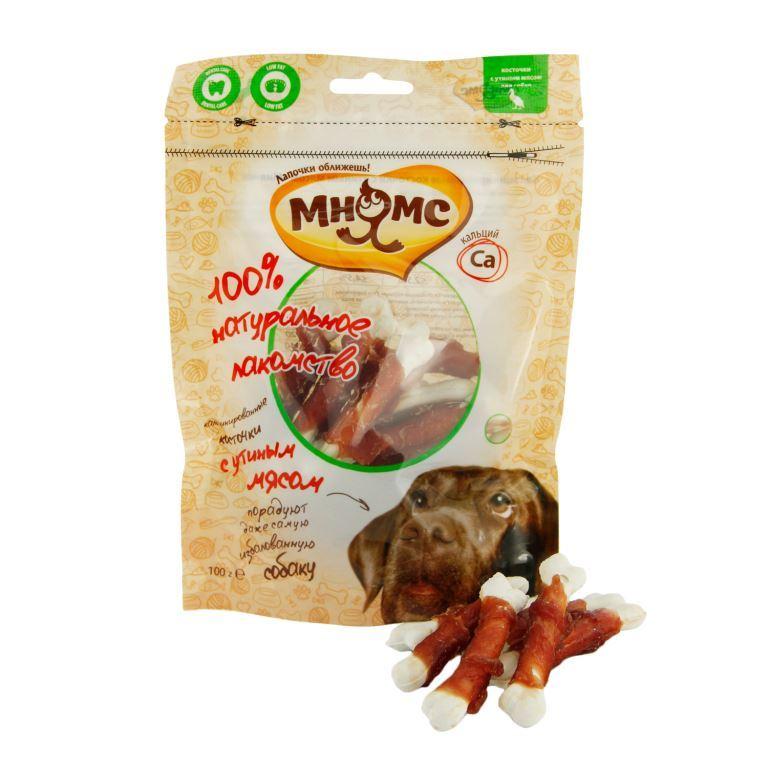 Лакомство для собак Мнямс, кальцинированные косточки с утиным мясом, 100 г0120710Кальцинированные косточки Мнямс - это лакомство, обогащенное кальцием для здоровья зубов и костей в натуральном утином мясе. косточки способствуют снятию зубного камня, а натуральные кусочки утиного мяса придутся по вкусу даже самому капризному питомцу. Вкусное и здоровое угощение идеально подходит в качестве поощрения для игр и тренировок.