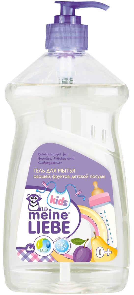 Meine Liebe Гель для мытья овощей фруктов детской посуды и игрушек концентрат 485 млml32204Безопасное средство для мытья детской посуды и игрушек, в том числе пластиковых, деревянных, резиновых и металлических.Рекомендован для мытья овощей и фруктов - полностью удаляет следы парафина и восков.Полностью смывается водой.Эффективен даже в холодной воде.Подходит для мытья прочей посуды - легко удаляет жир и все виды загрязнений. Обеспечивает мягкое и деликатное действие на кожу рук, не сушит.Не вызывает аллергии и раздражения. Не содержит отдушки, фосфатов, хлора, формальдегидов, растворителей, красителей, продуктов нефтехимии и прочих агрессивных компонентов.Экономичен в использовании.Состав: деминерализованная вода, 5-15% анионные ПАВ, <5% амфотерные ПАВ, <5% неионогенные ПАВ, бензоат натрия, молочная кислота, экстракт Алоэ-вера.