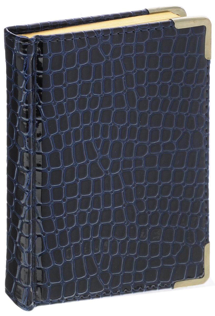 Listoff Записная книжка Iguana 96 листов в клетку цвет темно-синий80Б5B1грЗаписная книжка Listoff Iguana прекрасно подойдет в качестве подарка. Обложка выполнена из высококачественной искусственной кожи с наполнителем из поролона, что придает книжке опрятный и строгий внешний вид. Внутренний блок прошит, что гарантирует отсутствие потери листов. Металлические закругленные углы защищают записную книжку при активном использовании. Книжка содержит 96 листов в клетку. Книжка имеет ляссе и трехсторонний позолоченный обрез. Записная книжка Listoff Iguana станет достойным аксессуаром среди ваших канцелярских принадлежностей. Она пригодится как для деловых людей, так и для любителей записывать свои мысли, писать мемуары или делать наброски новых стихотворений.
