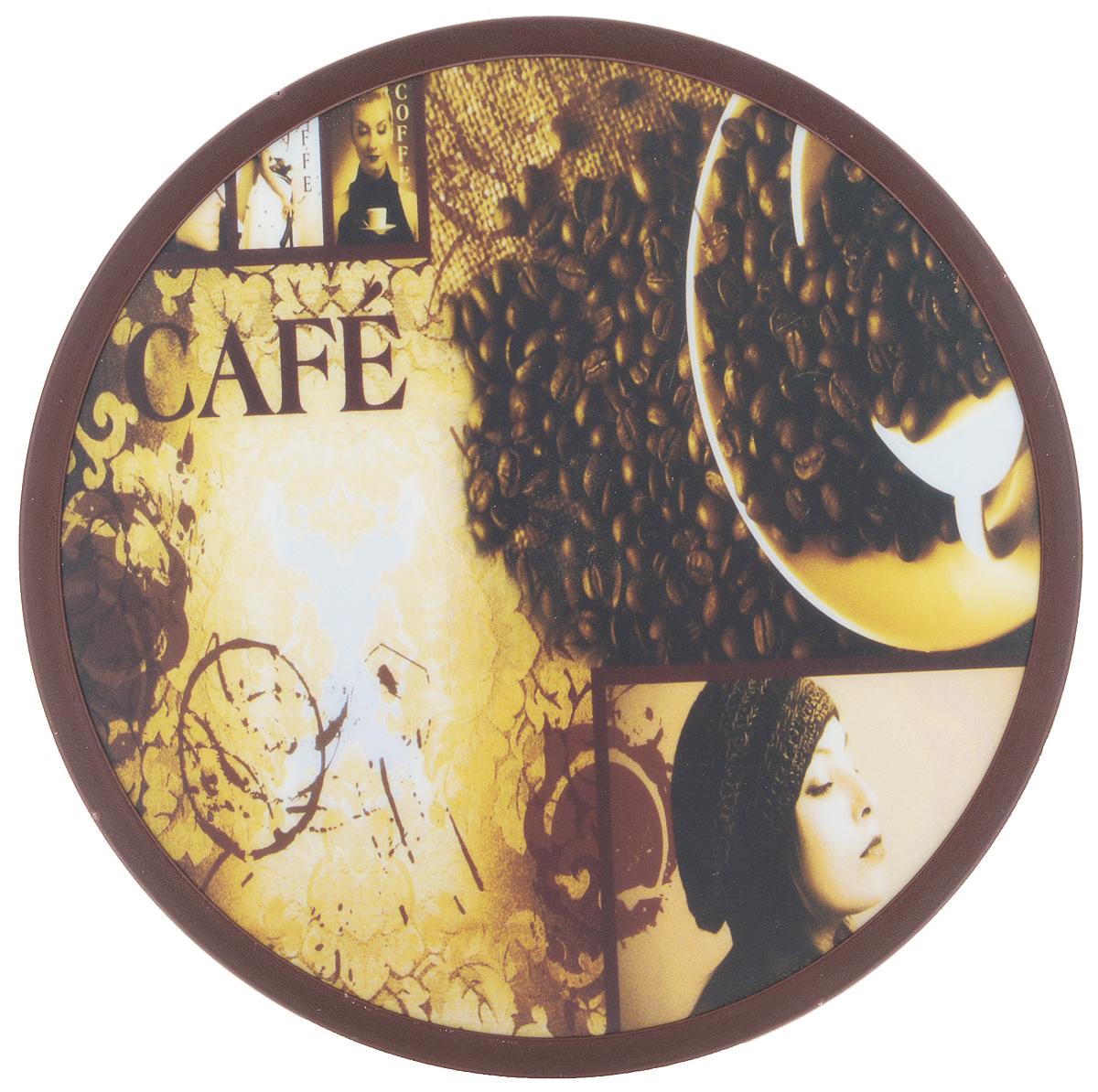 Доска разделочная Mayer & Boch, вращающаяся, диаметр 30 см. 2559954 009312Вращающаяся разделочная доска Mayer & Boch, выполненная из высококачественного пластика и дерева, станет незаменимым аксессуаром на вашей кухне. Доска декорирована красочными рисунками и надписями. Антибактериальное покрытие защищает от плесени, грибков и неприятных запахов.Изделие предназначено для измельчения продуктов. Доска вращается на 360°, что делает ее еще и отличным аксессуаром для сервировки пищи. Такая доска прекрасно впишется в интерьер любой кухни и прослужит вам долгие годы. Диаметр доски: 30 см. Диаметр основания: 18 см. Высота: 4 см.