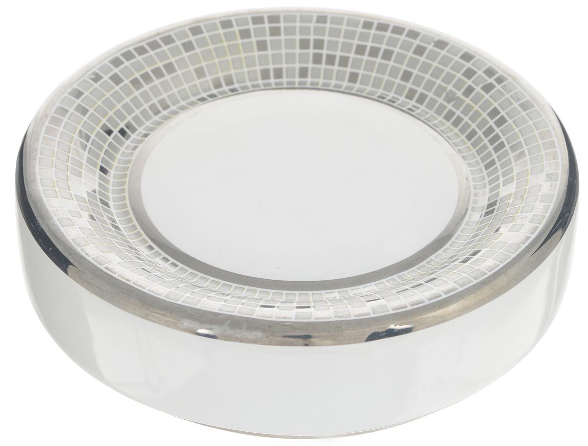 Мыльница Vanstore Mosaic41622Мыльница Vanstore Mosaic изготовлена из качественной керамики, покрытой глазурью, и оформлена в стиле мозаики. Мыльница утонченного изящного дизайна красиво дополнит интерьер ванной комнаты и создаст особую атмосферу уюта и комфорта.
