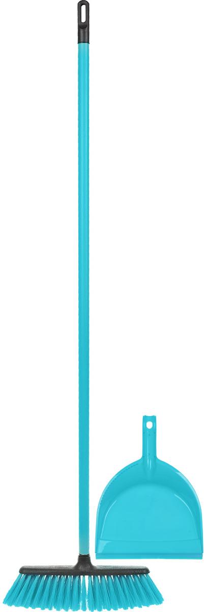 Набор для уборки Centi Tandem, цвет: голубой, черный, 2 предмета531-105Набор Centi Tandem состоит из совка и щетки-метелки, изготовленных из высококачественного пластика и сложных полимеров. Вместительный совок удерживает собранный мусор и позволяет эффективно и быстро совершать уборку в любом помещении. Сглаженный край совка обеспечивает наиболее плотное прилегание к полу. Щетка-метелка имеет удобную форму, позволяющую вымести мусор даже из труднодоступных мест. Все предметы набора оснащены ручками с отверстиями для подвешивания. С набором Centi Tandem уборка станет легче и приятнее.Общая длина щетки-метелки: 117 см.Длина ворса щетки-метелки: 7 см.Длина совка: 32 см.Размер рабочей части совка: 21 х 16 х 6 см.