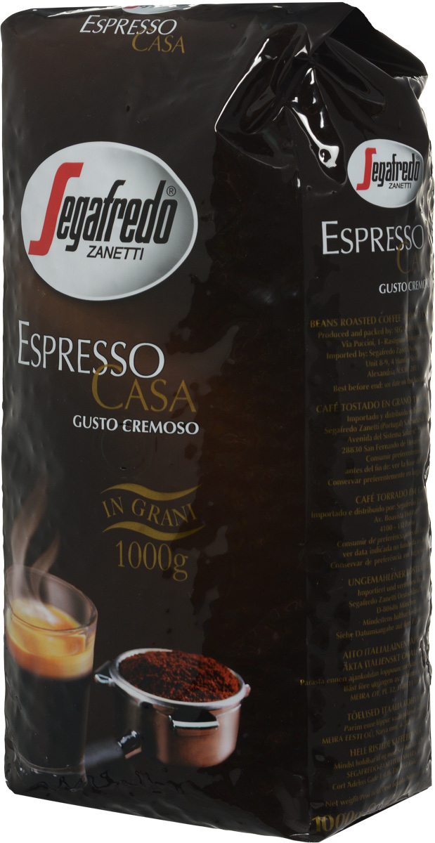 Segafredo Espresso Casa кофе в зернах, 1 кг0120710Кофе Segafredo Espresso Casa создан профессионалами кофе, которые подготовили сбалансированную смесь высшего сорта Арабики и Робусты, придающую напитку насыщенный сливочный вкус и интенсивный аромат. В точности как эспрессо из настоящей итальянской кофейни.
