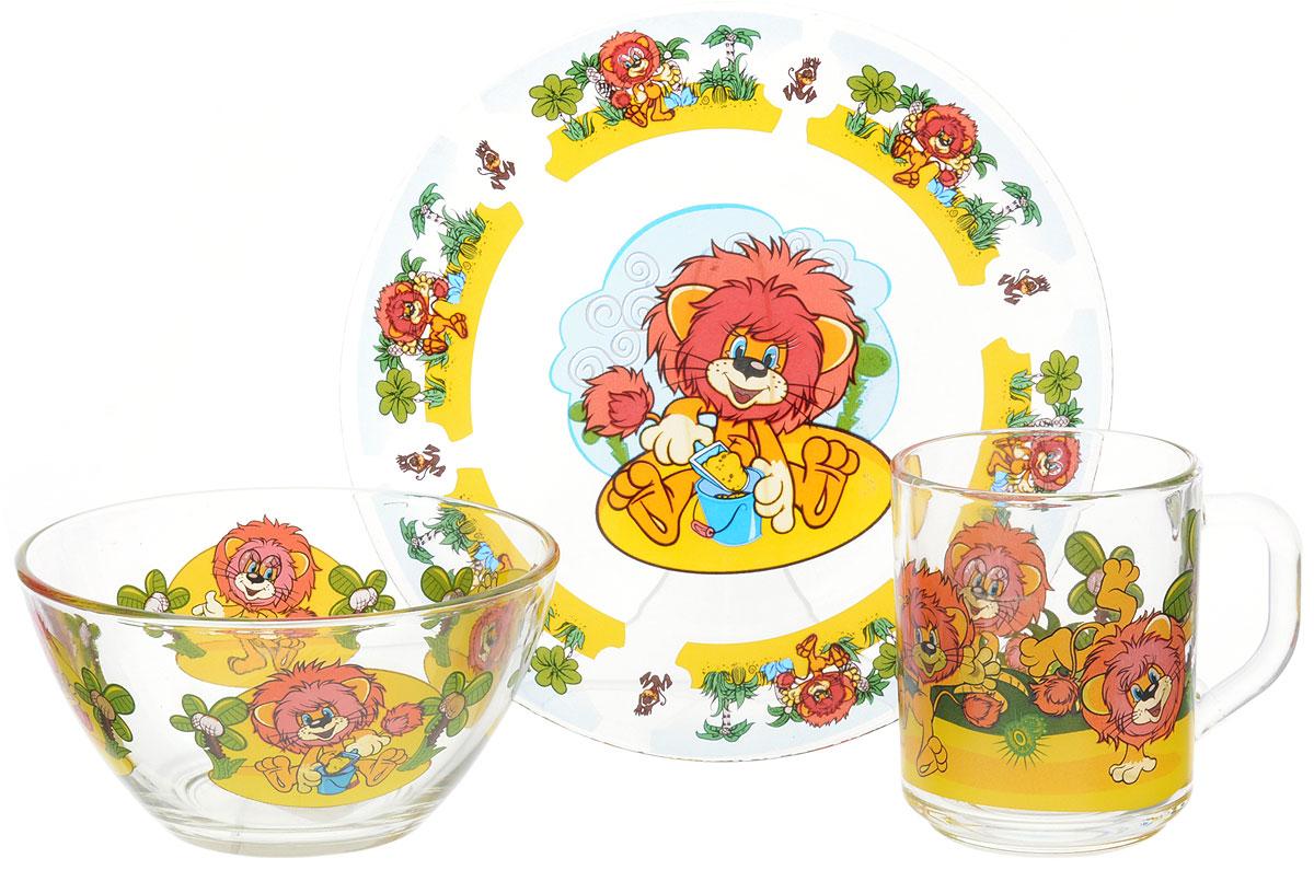 Союзмультфильм Набор детской посуды Львенок 3 предмета115510Набор детской посуды Союзмультфильм Львенок, выполненный из стекла, состоит из кружки, тарелки и салатника. Изделия оформлены изображением главного героя из популярного советского мультфильма Львенок и Черепаха. Материалы изделий нетоксичны и безопасны для детского здоровья. Детская посуда удобна и увлекательна для вашего малыша. Привычная еда станет более вкусной и приятной, если процесс кормления сопровождать игрой и сказками о любимых героях. Красочная посуда является залогом хорошего настроения и аппетита ваших детей. Не использовать в духовке, на открытом огне, в микроволновой печи.