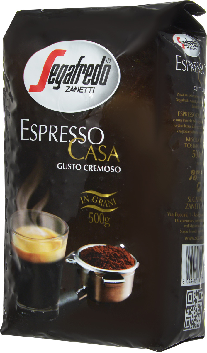 Segafredo Espresso Casa кофе в зернах, 500 г000670Кофе Segafredo Espresso Casa создан профессионалами кофе, которые подготовили сбалансированную смесь высшего сорта Арабики и Робусты, придающую напитку насыщенный сливочный вкус и интенсивный аромат. В точности как эспрессо из настоящей итальянской кофейни.