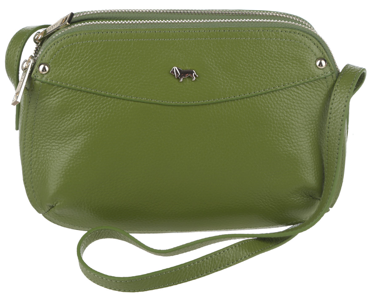 Сумка женская Labbra, цвет: зеленый. L-SD1034BA9334Стильная женская сумка Labbra выполнена из натуральной кожи с зернистой фактурой, оформлена металлической фурнитурой с символикой бренда.Изделие содержит три отделения, два из которых закрываются на застежку-молнию, а третье при помощи магнитов. Внутри сумки расположены два накладных кармашка для мелочей и врезной карман на застежке-молнии. Задняя сторона сумки дополнена врезным карманом на молнии. Изделие оснащено практичным плечевым ремнем регулируемой длины.Оригинальный аксессуар позволит вам завершить образ и быть неотразимой.