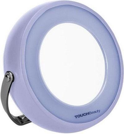 Зеркало с подсветкой Touchbeauty AS-08291301210Двустороннее зеркало с подсветкой, одна сторона с 5-ти кратным увеличением. LED-подсветка делает его простым в использовании в ночное время или в темноте. 360° поворотная рамка свободно регулирует зеркало под любым углом, и есть возможность повесить зеркало на стену. Питание батарейки от 3 ААА.