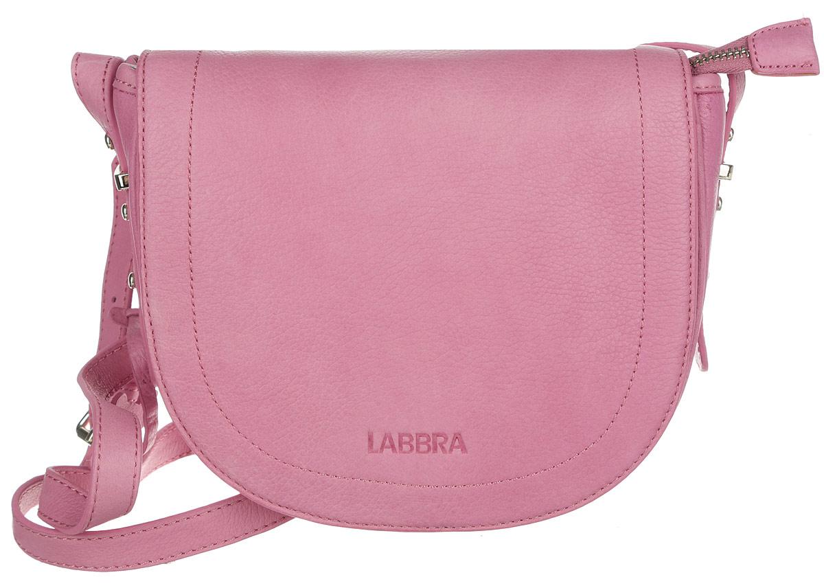 Сумка женская Labbra, цвет: розовый. L-FB303101225Стильная женская сумка Labbra выполнена из натуральной кожи с зернистой фактурой, оформлена символикой бренда и декоративной подвеской.Изделие содержит одно вместительное отделение, закрывающееся на застежку-молнию и дополнительно клапаном на магнитную кнопку. Внутри сумки расположены накладной кармашек для мелочей и врезной карман на застежке-молнии. Задняя сторона сумки дополнена врезным карманом на молнии. Изделие оснащено практичным плечевым ремнем регулируемой длины.Оригинальный аксессуар позволит вам завершить образ и быть неотразимой.