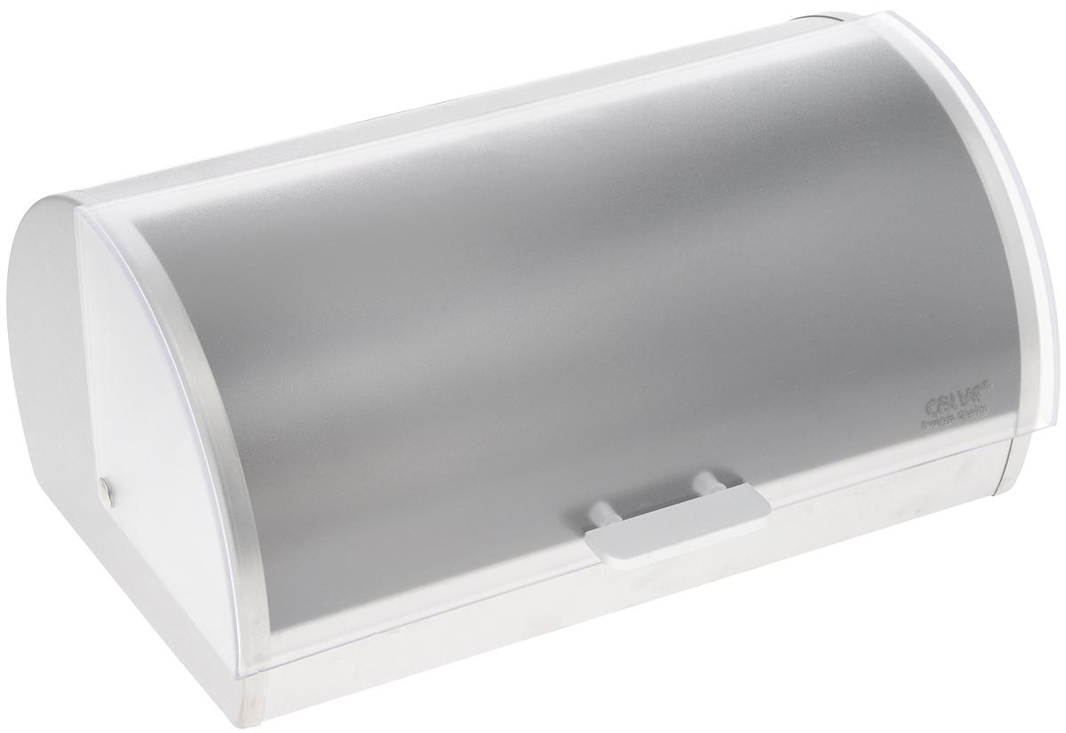 Хлебница Calve, 39 х 26,5 х 19 см. CL-415521395599Хлебница Calve изготовлена из высококачественной нержавеющей стали. Изделие имеет пластиковое окошко. Крышка плотно и легко закрывается. С задней стороны расположены отверстия для вентиляции. Ножки на дне обеспечивают устойчивое расположение. Стильная хлебница прекрасно впишется в интерьер кухни и надолго сохранит ваш хлеб вкусным и свежим.