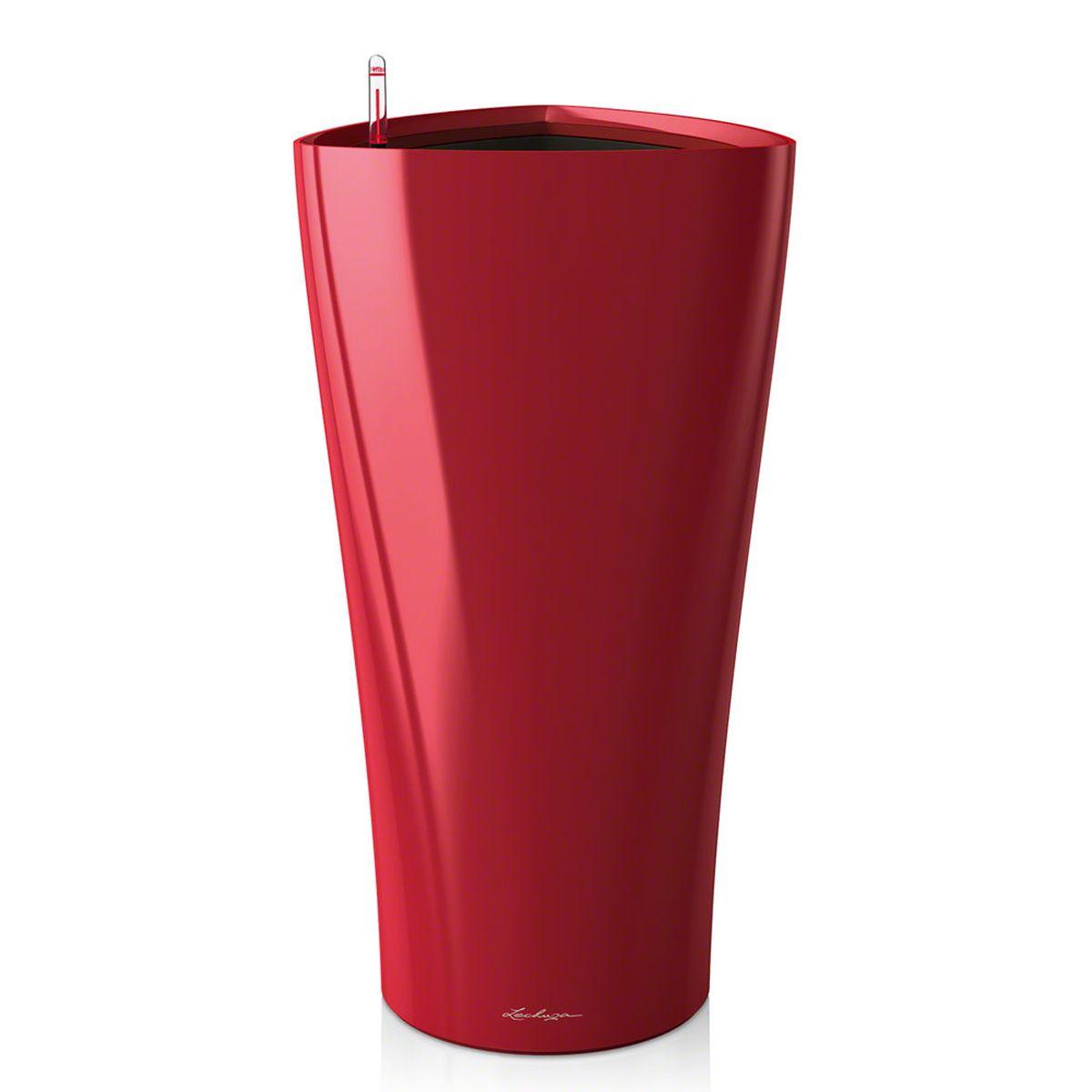 Кашпо Lechuza Delta, с системой автополива, цвет: красный, 30 х 30 х 56 см15519Кашпо Lechuza Delta, выполненное из высококачественного пластика, имеет уникальную систему автополива, благодаря которой корневая система растения непрерывно снабжается влагой из резервуара. Уровень воды в резервуаре контролируется с помощью специального индикатора. В зависимости от размера кашпо и растения воды хватает на 2-12 недель. Это способствует хорошему росту цветов и предотвращает переувлажнение.В набор входит: кашпо, внутренний горшок, индикатор уровня воды, вал подачи воды, субстрат растений в качестве дренажного слоя, резервуар для воды.Кашпо Lechuza Delta прекрасно впишется в любой интерьер. Оно поможет расставить нужные акценты и придаст помещению вид, соответствующий вашим представлениям.