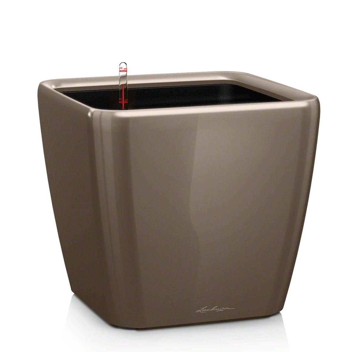 Кашпо с автополивом Lechuza Quadro 50х47 см, серо-коричневое LSZ-0307Элегантная ручка цвета самого кашпо украшает все наборы Все-в-одном кашпо серии QUADRO. Она не только красиво смотрится, но и обеспечивает возможность легкой замены растений.Особые преимущества:- Запатентованный внутренний горшок- Ручка цвета горшка не только практична, но еще и дополнительно подчеркивает изящный дизайн кашпо- В качестве опции: Подставка на роликах для QUADRO 43 и 50