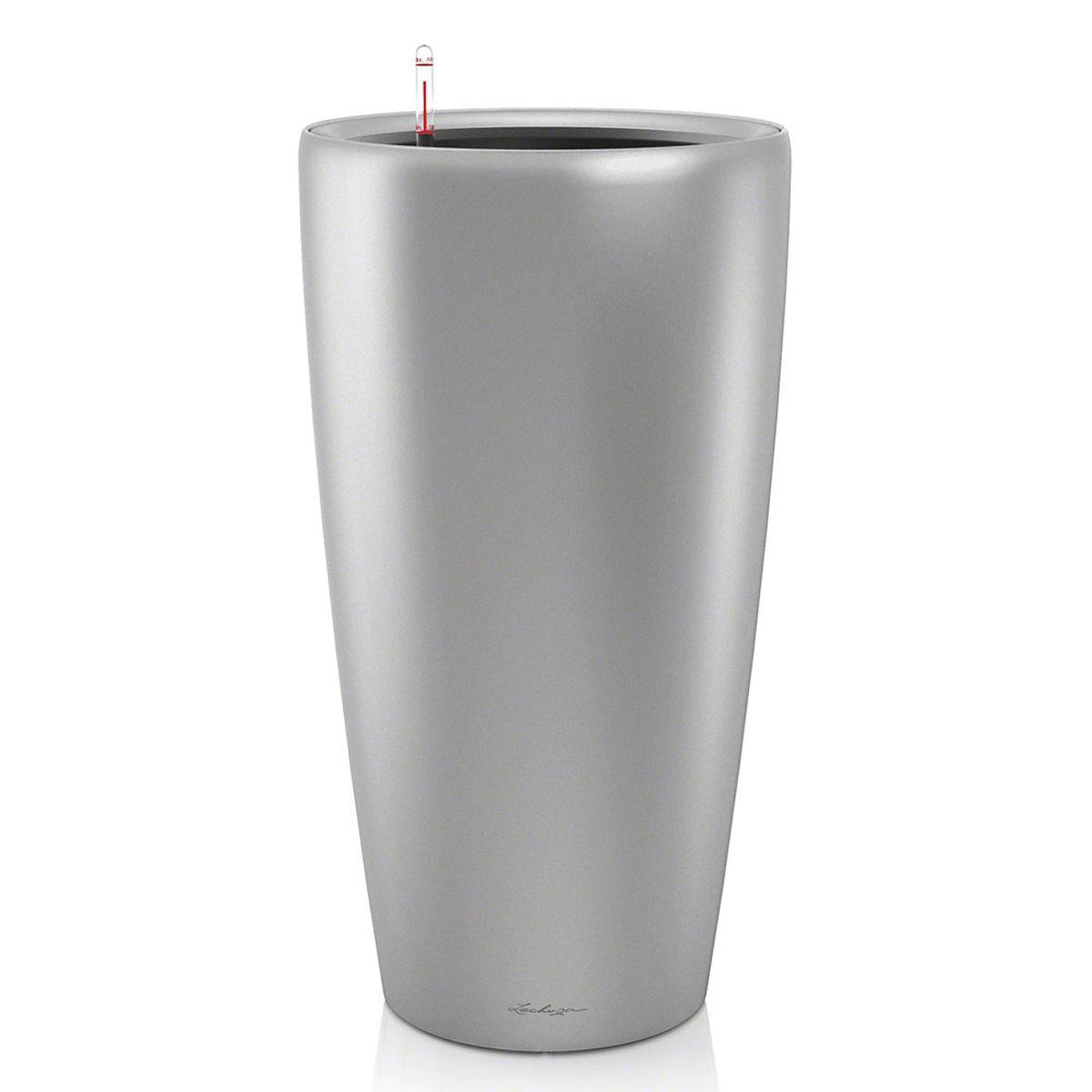 Кашпо с автополивом Lechuza Rondo 40х75 см, серебро41623Изящная форма кашпо RONDO является одновременно элегантной и несложной, и позволяет представить в выгодном свете любое растение. Сочетание кашпо с моделями CLASSICO идеально дополняет общую картину.Особые преимущества:- Всегда элегантный дизайн кашпо, соответствующий серии CLASSICO- Совершенная форма кашпо, для самых разных растений и позицийВнутренний горшок с выдвижными ручками обеспечивает:- Легкую переноску даже высоких растений- Легкую смену растений