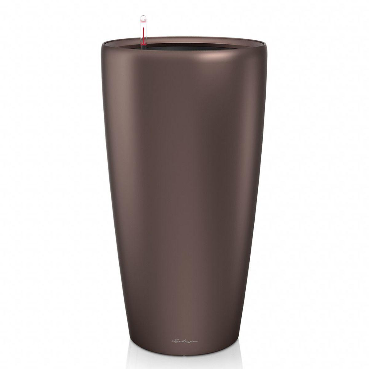 Кашпо с автополивом Lechuza Rondo 40х75 см, эспрессоZ-0307Изящная форма кашпо RONDO является одновременно элегантной и несложной, и позволяет представить в выгодном свете любое растение. Сочетание кашпо с моделями CLASSICO идеально дополняет общую картину.Особые преимущества:- Всегда элегантный дизайн кашпо, соответствующий серии CLASSICO- Совершенная форма кашпо, для самых разных растений и позицийВнутренний горшок с выдвижными ручками обеспечивает:- Легкую переноску даже высоких растений- Легкую смену растений