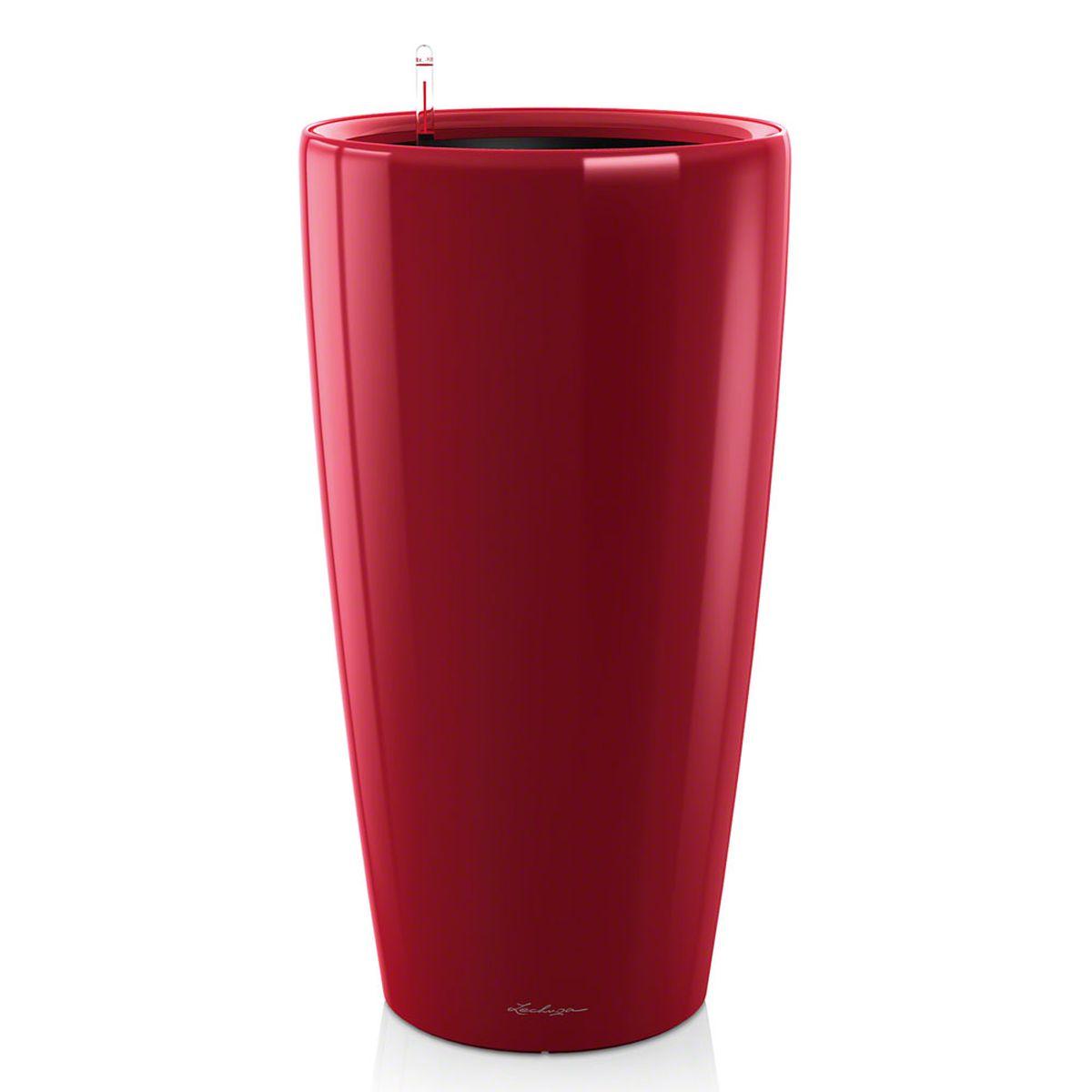 Кашпо Lechuza Rondo, с системой автополива, цвет: красный, диаметр 40 см15759Кашпо Lechuza Rondo, изготовленное из высококачественного пластика, идеальное решение для тех, кто регулярно забывает поливать комнатные растения. Стильный дизайн позволит украсить растениями офис, кафе или любое другое помещение. Кашпо Lechuza Rondo с системой автополива упростит уход за вашими цветами и поможет растениям получать то количество влаги, которое им необходимо в данный момент времени.В набор входит: кашпо, внутренний горшок, индикатор уровня воды, вал подачи воды, субстрат растений в качестве дренажного слоя, резервуар для воды.Внутренний горшок, оснащенный выдвижными ручками, обеспечивает:- легкую переноску даже высоких растений;- легкую смену растений;- можно также просто убрать растения на зиму;- винт в днище позволяет стечь излишней дождевой воде наружу.Кашпо Lechuza Rondo украсит любой интерьер и станет замечательным подарком для ваших родных и близких.