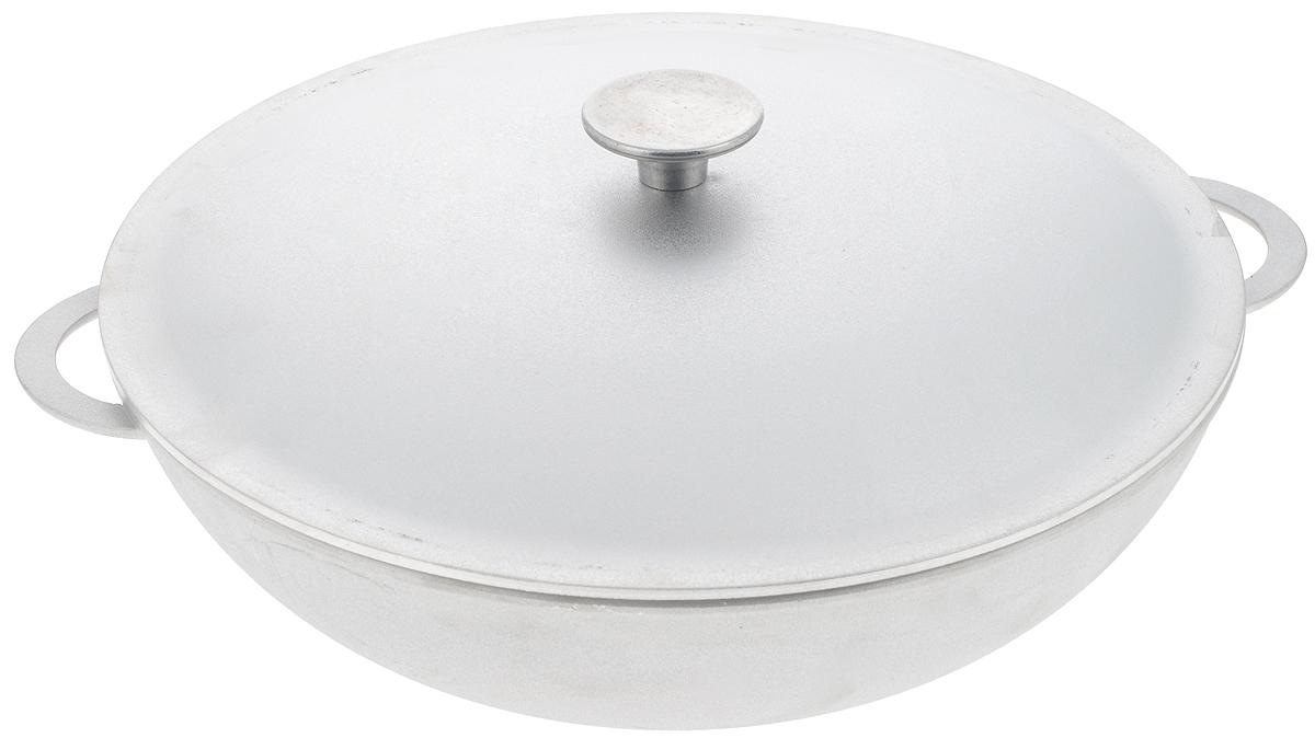 Сковорода-вок Биол с крышкой. Диаметр 32 смFS-91909Сковорода-вок Биол изготовлена из литого алюминия. Изделие оснащено плотно прилегающей крышкой, позволяющей сохранить аромат готовящегося блюда.Сковорода снабжена двумя эргономичными ручками. Нельзя оставлять приготовленную пищу в посуде для хранения. Сковороду можно использовать на газовых, электрических и стеклокерамических плитах. Рекомендовано мыть вручную. Высота стенки: 10 см.Диаметр (по верхнему краю): 32 см.Ширина (с учетом ручек): 38 см.