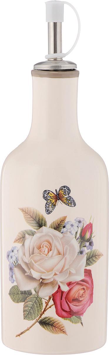 Бутылка для масла и уксуса Loraine Розы, 290 мл. 21706VT-1520(SR)Бутылка Loraine Розы, выполненная из доломита, предназначена для хранения масла или уксуса. Горлышко оснащено металлическим разбрызгивателем с силиконовым уплотнителем. Вы нальете ровно столько масла, сколько нужно, не уронив ни одной лишней капли, ведь крышка с носиком снабжена специальным клапаном. Стенки бутылки светонепроницаемые, поэтому ее можно хранить в открытом шкафу, не волнуясь, что ваше лучшее оливковое масло потеряет вкус и аромат.Можно использовать в микроволновой печи и мыть в посудомоечной машине.Высота бутылки (с учетом крышки): 21 см.Диаметр основания: 6,5 см.Диаметр бутылки (по верхнему краю): 3 см.