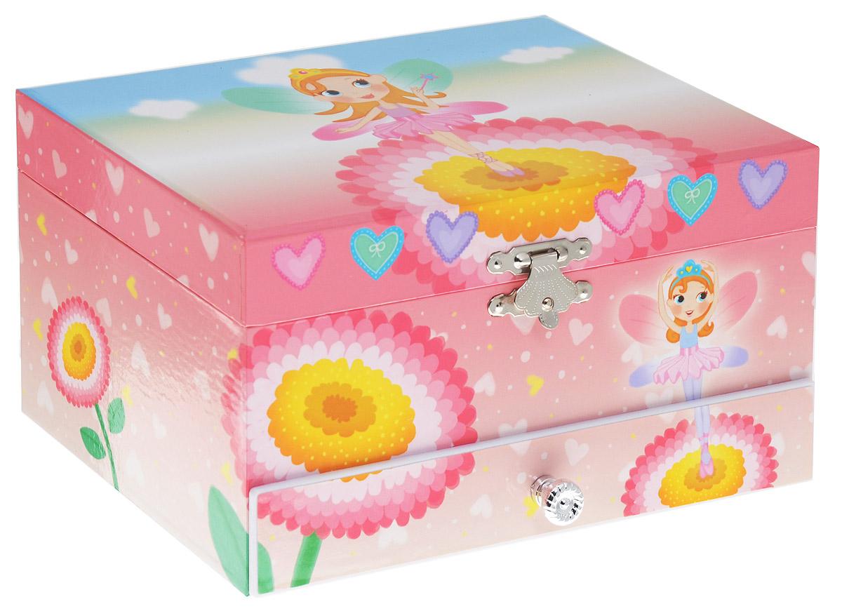 Jakos Музыкальная шкатулка Принцесса с короной цвет розовый