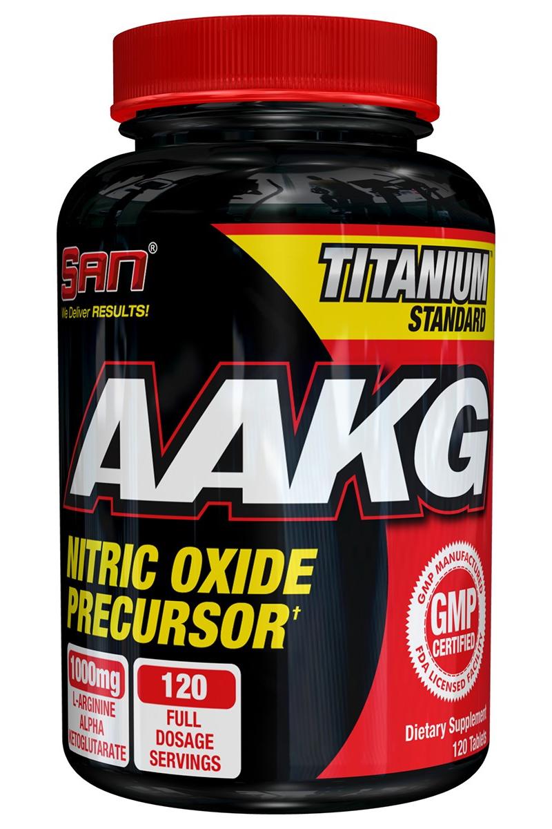 Аргинин SAN  AAKG , 120 капсул - Аминокислоты