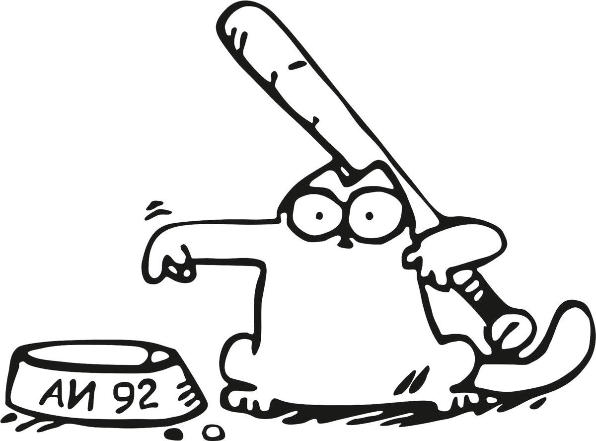 Наклейка автомобильная Оранжевый слоник Кот с дубинкой, виниловая, цвет: черный150RM00020WОригинальная наклейка Оранжевый слоник Кот с дубинкой изготовлена из долговечного винила, который выполняет не только декоративную функцию, но и защищает кузов от небольших механических повреждений, либо скрывает уже существующие.Виниловые наклейки на авто - это не только красиво, но еще и быстро! Всего за несколько минут вы можете полностью преобразить свой автомобиль, сделать его ярким, необычным, особенным и неповторимым!