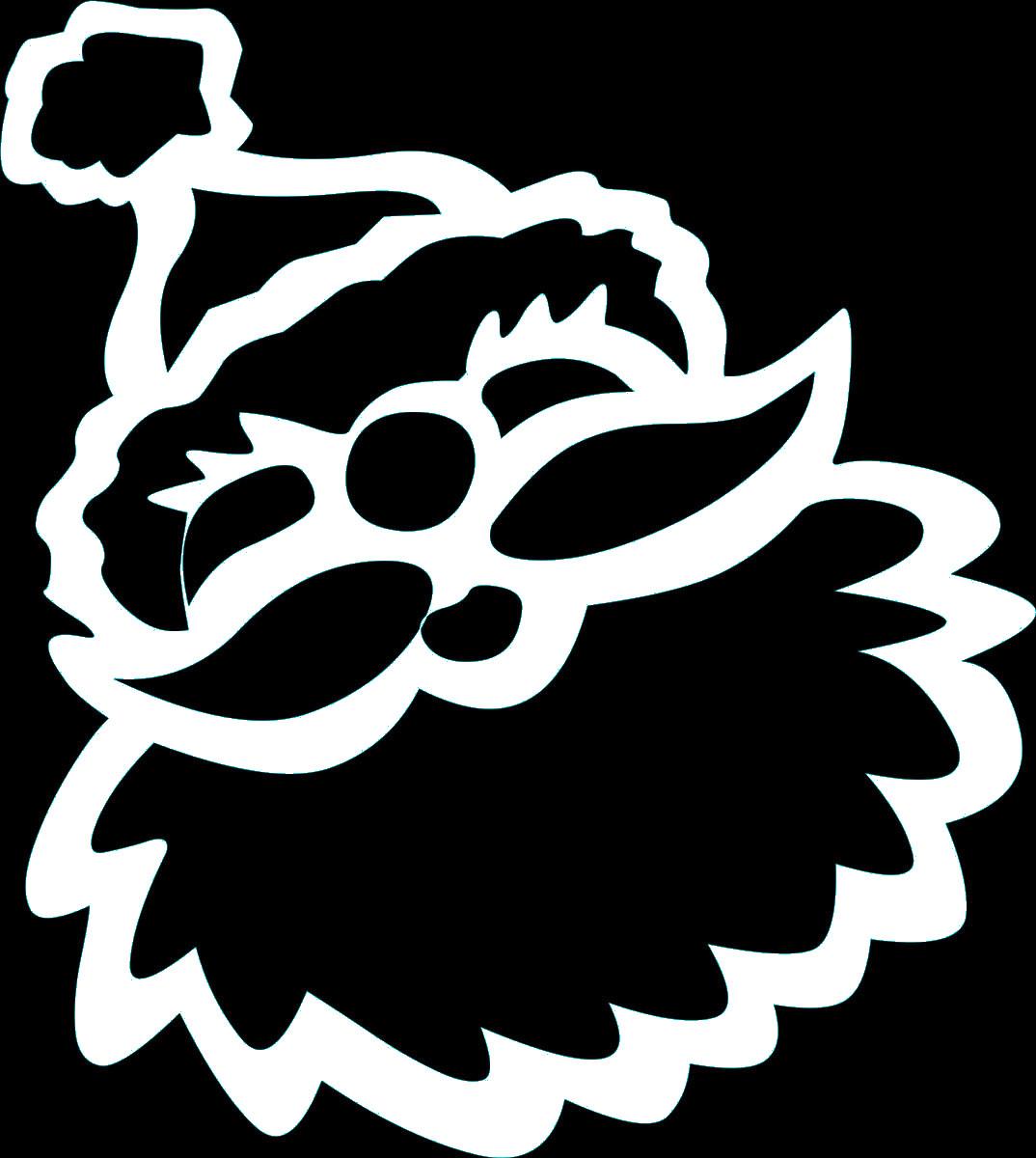 Наклейка автомобильная Оранжевый слоник Лицо Деда Мороза, виниловая, цвет: белый240000Оригинальная наклейка Оранжевый слоник Лицо Деда Мороза изготовлена из высококачественной виниловой пленки, которая выполняет не только декоративную функцию, но и защищает кузов автомобиля от небольших механических повреждений, либо скрывает уже существующие.Виниловые наклейки на автомобиль - это не только красиво, но еще и быстро! Всего за несколько минут вы можете полностью преобразить свой автомобиль, сделать его ярким, необычным, особенным и неповторимым!