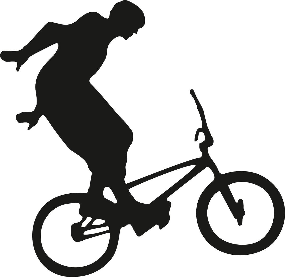 Наклейка автомобильная Оранжевый слоник Велосипедист 3, виниловая, цвет: черныйВетерок 2ГФОригинальная наклейка Оранжевый слоник Велосипедист 3 изготовлена из высококачественной виниловой пленки, которая выполняет не только декоративную функцию, но и защищает кузов автомобиля от небольших механических повреждений, либо скрывает уже существующие.Виниловые наклейки на автомобиль - это не только красиво, но еще и быстро! Всего за несколько минут вы можете полностью преобразить свой автомобиль, сделать его ярким, необычным, особенным и неповторимым!