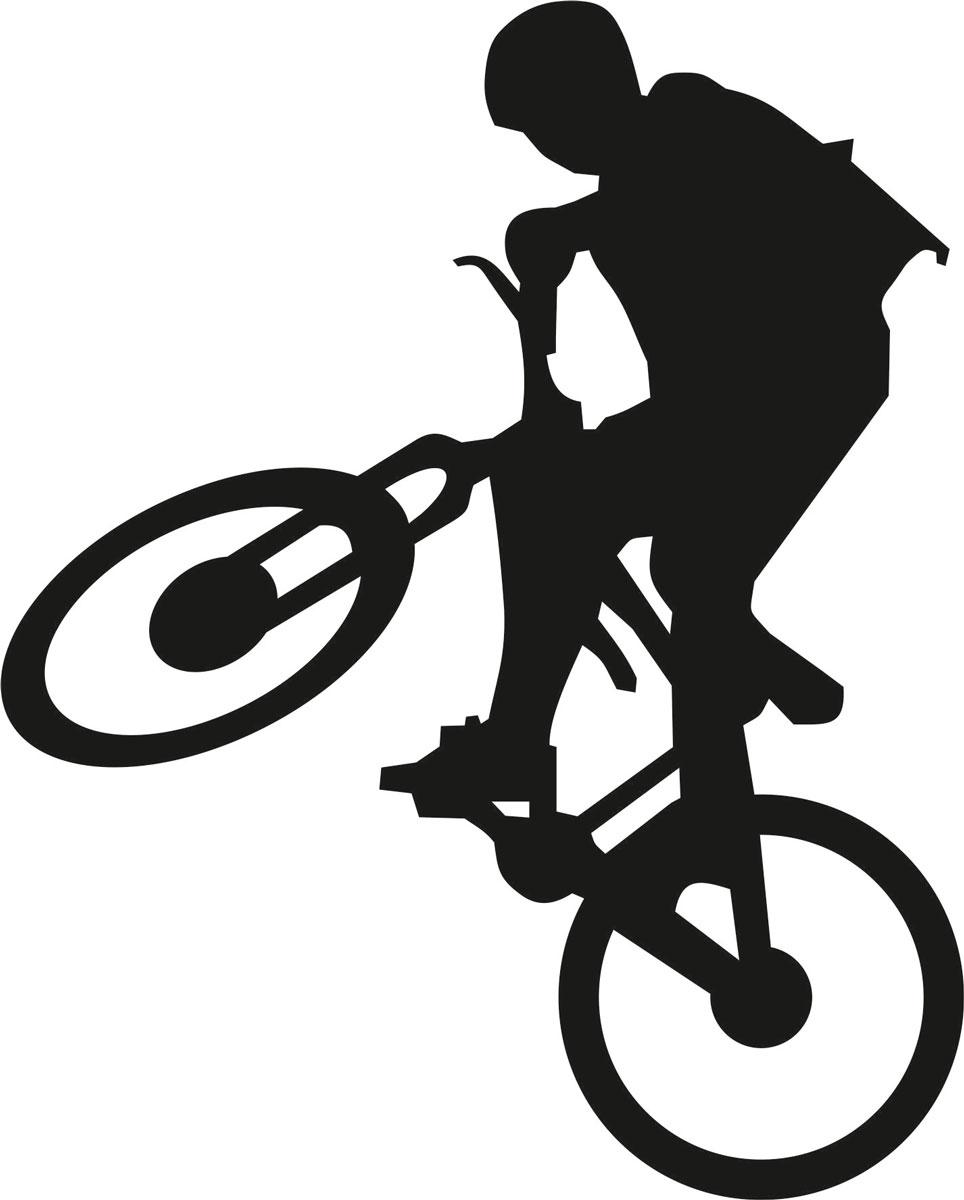 Наклейка автомобильная Оранжевый слоник Велосипедист 2, виниловая, цвет: черныйDW90Оригинальная наклейка Оранжевый слоник Велосипедист изготовлена из высококачественного винила, который выполняет не только декоративную функцию, но и защищает кузов от небольших механических повреждений, либо скрывает уже существующие.Виниловые наклейки на авто - это не только красиво, но еще и быстро! Всего за несколько минут вы можете полностью преобразить свой автомобиль, сделать его ярким, необычным, особенным и неповторимым!
