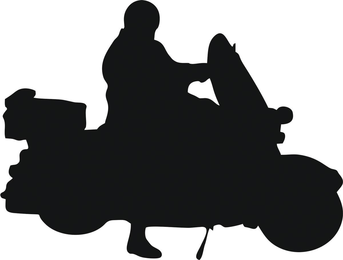 Наклейка автомобильная Оранжевый слоник Мотоциклист 17, виниловая, цвет: черныйWT-CD37Оригинальная наклейка Оранжевый слоник Мотоциклист 17 изготовлена из высококачественной виниловой пленки, которая выполняет не только декоративную функцию, но и защищает кузов автомобиля от небольших механических повреждений, либо скрывает уже существующие.Виниловые наклейки на автомобиль - это не только красиво, но еще и быстро! Всего за несколько минут вы можете полностью преобразить свой автомобиль, сделать его ярким, необычным, особенным и неповторимым!
