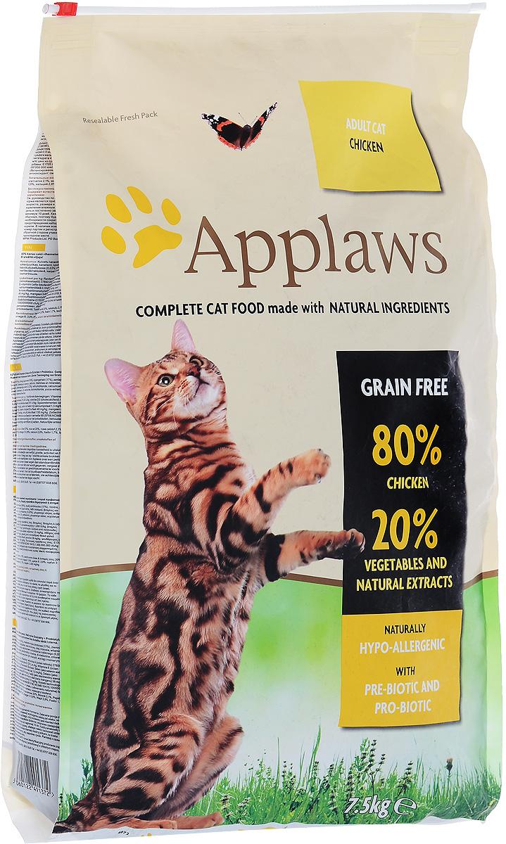 Корм сухой Applaws для кошек, беззерновой, с курицей и овощами, 7,5 кг24363Беззерновой корм для кошек Applaws изготовлен по особым рецептам, разработанными диетологами института Великобритании. Правильная диета очень важна для питомцев, ведь она меняется в зависимости от жизненного цикла. Также полнорационные корма должны включать в себя необходимое количество витаминов и минералов. В рецепте сухого корма Applaws учтен не только перечень наиболее необходимых минералов и витаминов, но и их строгий баланс. Такой корм изготавливается только из натуральных качественных ингредиентов, крокеты привлекут внимание любого, даже очень привередливого питомца. Состав: дегидрированное мясо цыпленка минимум 59%, молодой картофель минимум 4%, мелкорубленное свежее филе цыпленка минимум 9%, жир домашней птицы минимум 9% (источник Омега 6), подлива с мяса птицы приготовленной в собственном соку минимум 3%, свекла минимум 3%, яичный порошок минимум 3%, пивные дрожжи, лососевый жир (источник Омега 3), минералы, клетчатка минимум 0,4%, хлорид натрия, карбонат кальция, сушеные водоросли, клюква, DL - метионин, хлористый калий, экстракт Юкка Шидегера, экстракт из цитрусовых, розмарин. Пищевые добавки: витамин А 25,305 МЕ/кг, витамин D3 1,745 МЕ/кг, витамин Е 558 МЕ/кг. Микроэлементы: селен (селенит натрия) 0,13 мг/кг, йод (безводный иодат кальция) 1,75 мг/кг, железо (сульфат железа моногидрат) 61 мг, медь (сульфат меди пентагидрад) 9мг/кг, марганец (сульфат марганца моногидрат) 26 мг/кг, цинк (сульфат цинка моногидрат) 140 мг/кг. Прочие добавки: натуральный консервант – токоферол. Гарантированный анализ: белки - 47%, жиры - 20%, клетчатка - 2,0%, зола - 9,9%, кальций - 2%, фосфор - 1,6%, таурин - 2000 мг/кг Товар сертифицирован.