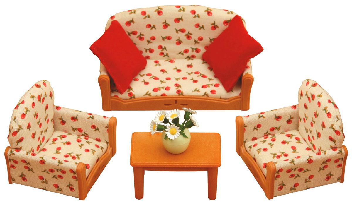 """С таким набором мягкой мебели герои """"Sylvanian Families"""" смогут комфортно отдохнуть всей семьей, удобно устроившись на мягкой мебели. Набор мягкой мебели для гостиной состоит из дивана, двух кресел, стола, двух подушек, вазы с цветами. Компания была основана в 1985 году, в Японии. """"Sylvanian Families"""" очень популярен в Европе и Азии, и, за долгие годы существования, компания смогла добиться больших успехов. 3 года подряд в Англии бренд """"Sylvanian Families"""" был признан """"Игрушкой Года"""". Сегодня у героев """"Sylvanian Families"""" есть собственное шоу, полнометражный мультфильм и сеть ресторанов, работающая по всей Японии. А главным событием уходящего года стала премьера мюзикла. """"Sylvanian Families"""" - это целый мир маленьких жителей, объединенных общей легендой. Жители страны """"Sylvanian Families"""" - это кролики, белки, медведи, лисы и многие другие. У каждого из них есть дом, в котором есть все необходимое для счастливой жизни. В городе, где живут герои,..."""
