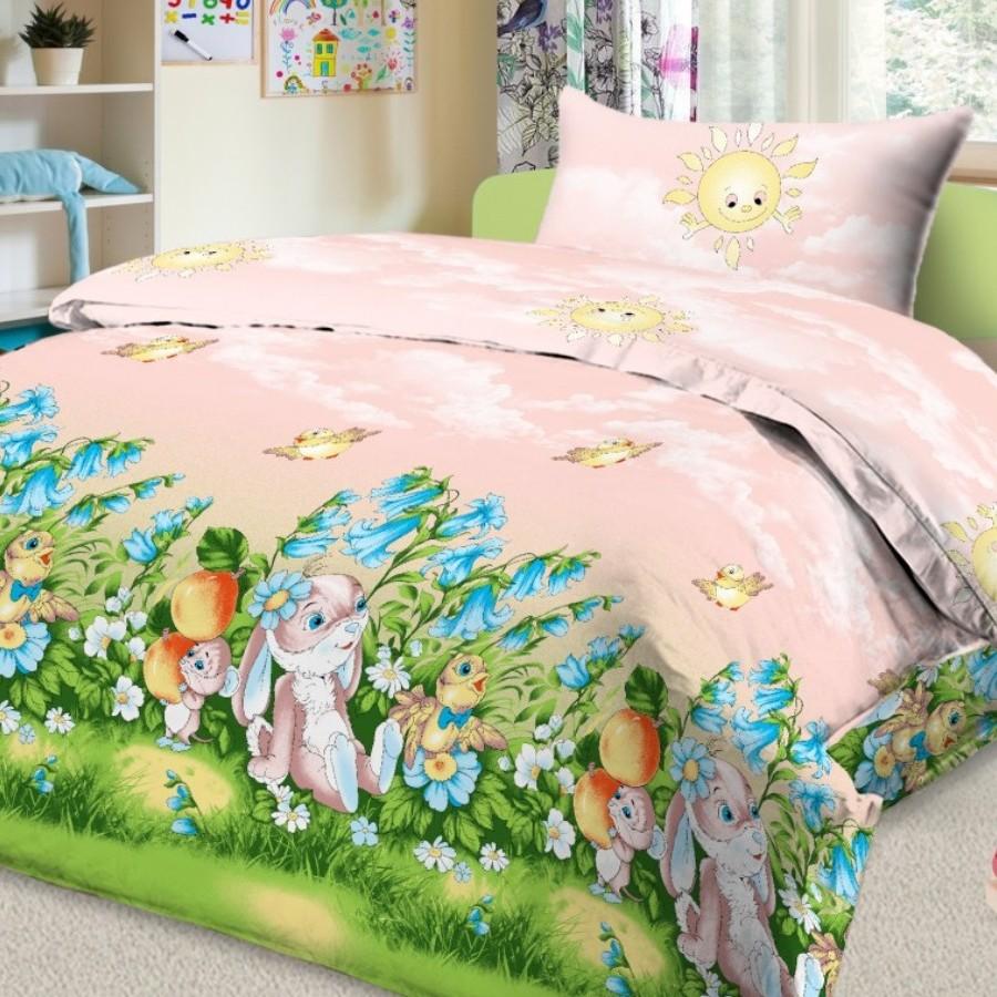 Letto Комплект белья для новорожденных Ясли простыня на резинке цвет розовый BGR-22