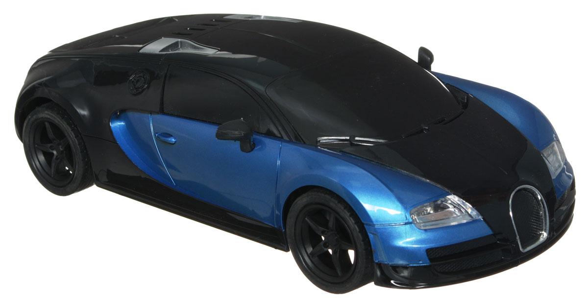 """Машина на радиоуправлении Plastic Toy """"Model Car"""" предназначена для тех, кто любит роскошь и высокие скорости. Корпус автомобиля выполнен из пластика, колеса прорезинены. Управление машинкой происходит с помощью пульта. Машинка двигается вперед и назад, поворачивает направо, налево и останавливается. Имеются световые эффекты. Пульт управления работает на частоте 27 MHz. Колеса игрушки прорезинены и обеспечивают плавный ход, машинка не портит напольное покрытие. Радиоуправляемые игрушки способствуют развитию координации движений, моторики и ловкости. Ваш ребенок часами будет играть с моделью, придумывая различные истории и устраивая соревнования. Порадуйте его таким замечательным подарком! Машина работает от 4 батареек напряжением 1,5V типа АА (не входят в комплект). Пульт управления работает от 2 батареек напряжением 1,5V типа АА (не входят в комплект)."""