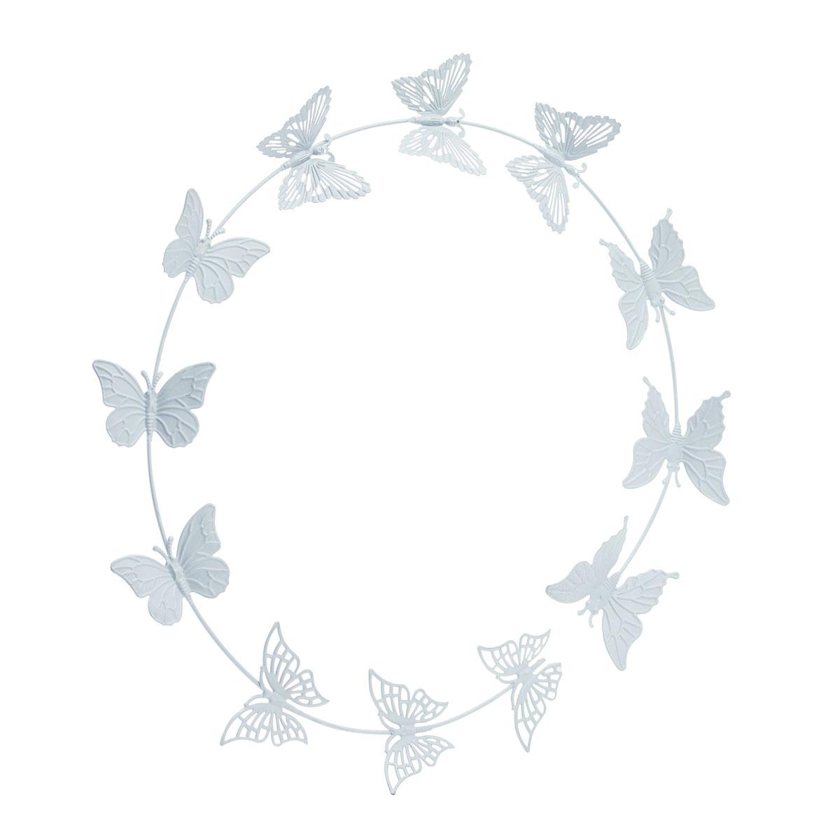 Украшение декоративное Gardman Butterflies, настенное, цвет: серый300158_белый, коричневыйДекоративное настенное украшение Gardman Butterflies изготовлено из металла. Оно отлично подойдет для дома и придаст неповторимый дизайн вашему интерьеру.