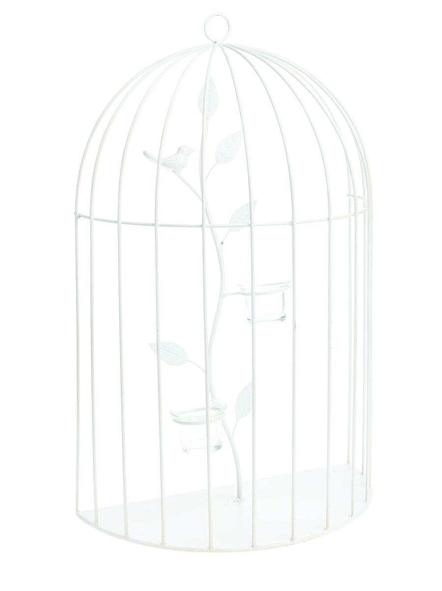 Подсвечник настенный Gardman Birdcage, 55 х 35 х 8,5 смU210DFНастенный декоративный подсвечник Gardman Birdcage порадует каждого, кто его увидит. Он выполнен из металла в виде клетки и оснащен подставками со стеклянными емкостями для размещения свечей. Теплое мерцание пламени свечи подарит вам настроение волшебства и торжественности. Создайте в своем доме атмосферу уюта, преображая интерьер стильными, радующими глаза предметами.