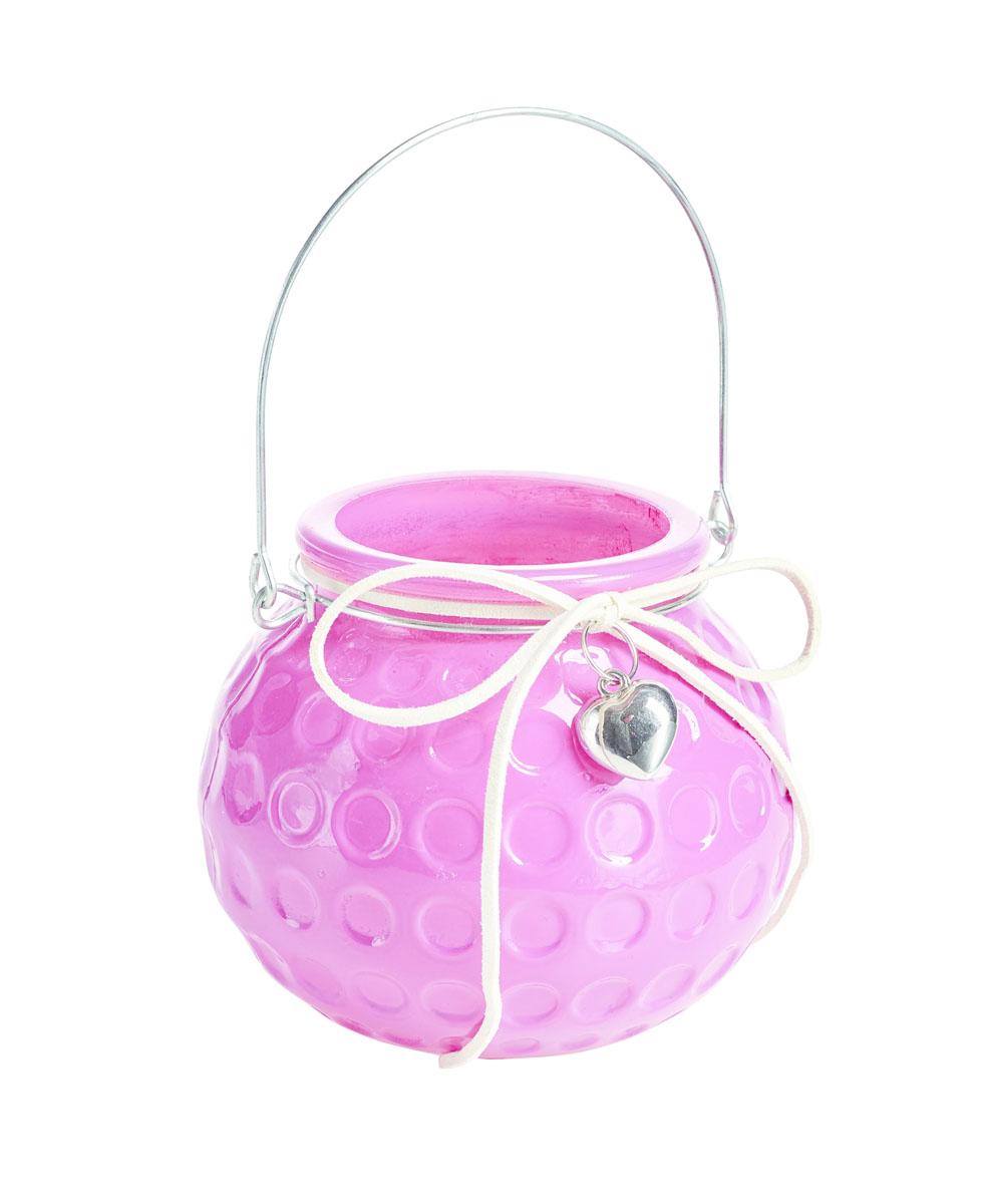 Подсвечник подвесной Gardman Honey Pot, цвет: розовый, 8,5 см74-0120Декоративный подсвечник Gardman Honey Pot, изготовленный из высококачественного стекла, позволит украсить интерьер дома или рабочего кабинета оригинальным образом. Вы можете поставить или подвесить подсвечник в любом месте, где он будет удачно смотреться и радовать глаз. Кроме того - это отличный вариант подарка для ваших близких и друзей.