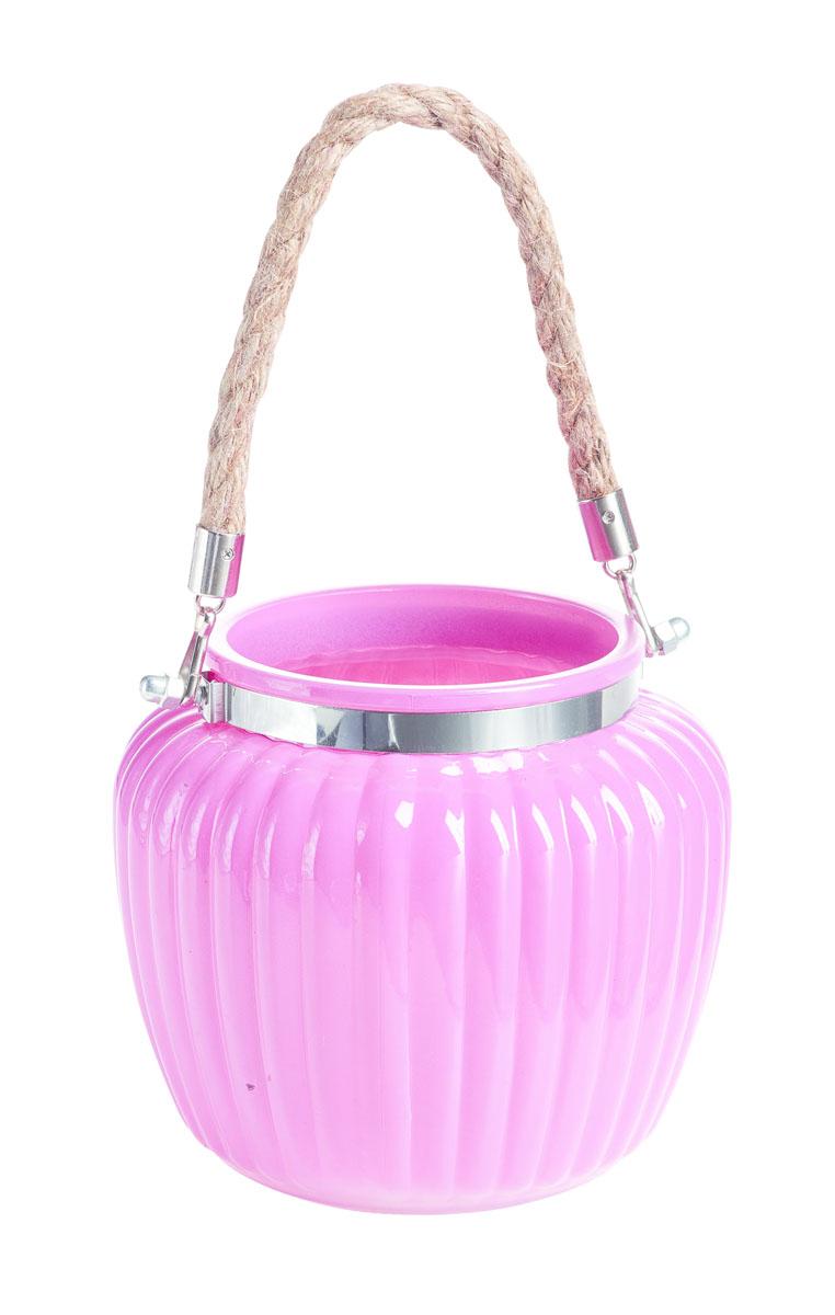 Подсвечник подвесной Gardman Ribbed Jar. Medium, цвет: розовый, 13 см12723Декоративный подсвечник Gardman Ribbed Jar. Medium, изготовленный из высококачественного стекла, позволит украсить интерьер дома или рабочего кабинета оригинальным образом. Вы можете поставить или подвесить подсвечник в любом месте, где он будет удачно смотреться и радовать глаз. Кроме того - это отличный вариант подарка для ваших близких и друзей.