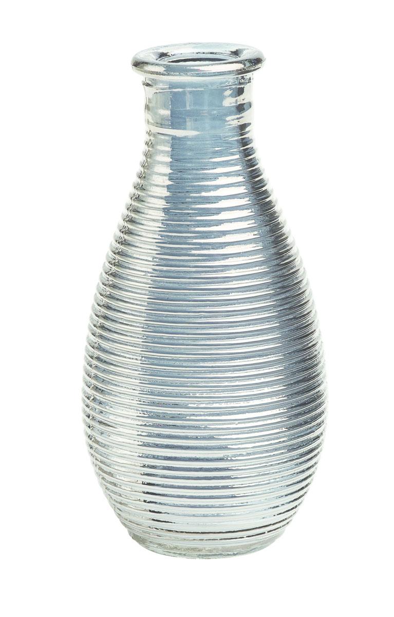 Ваза Gardman Mini, цвет: серебристый, высота 14 смFS-80423Изящная ваза Gardman Mini, изготовленная из стекла, имеет оригинальную форму. Она идеально дополнит интерьер офиса или дома и станет желанным и стильным подарком.Высота вазы: 14 см.