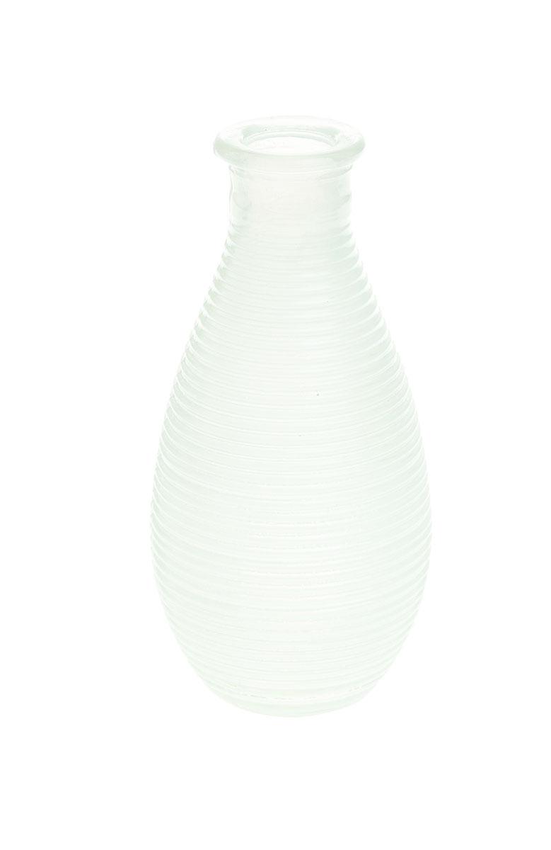 Ваза Gardman Mini, цвет: белый, высота 14 смFS-80418Изящная ваза Gardman Mini, изготовленная из стекла с металлической фольгой внутри, имеет оригинальную форму. Она идеально дополнит интерьер офиса или дома и станет желанным и стильным подарком.Высота вазы: 14 см.